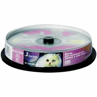 Диск DVD+RW 4.7Gb Smart Track 4x Cake Box (10шт)