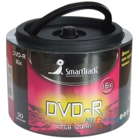 Диск DVD+R 4.7Gb Smart Track 16x Cake Box (50шт)