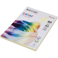"Бумага ""Maestro Color pale"" А4, 80г/м2, 100л. (жёлтый)"
